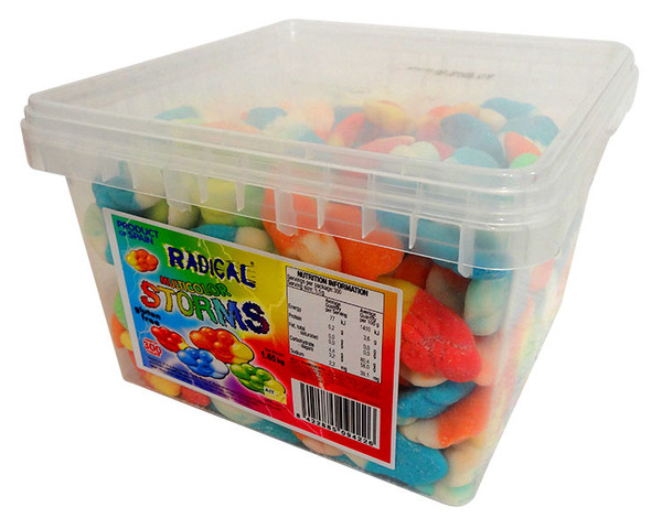 Radical Storms - Multi-Colour, by AIT Confectionery,  and more Confectionery at The Professors Online Lolly Shop. (Image Number :13847)