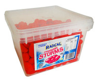 Radical Storms - Strawberry, by AIT Confectionery,  and more Confectionery at The Professors Online Lolly Shop. (Image Number :11595)