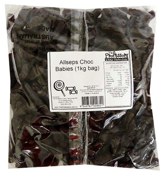 Allseps Bulk Choc Babies, by Allseps,  and more Confectionery at The Professors Online Lolly Shop. (Image Number :12168)