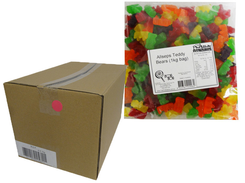 Allseps Bulk Teddy Bears, by Allseps,  and more Confectionery at The Professors Online Lolly Shop. (Image Number :12846)