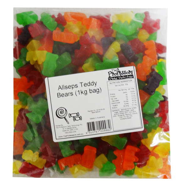 Allseps Bulk Teddy Bears, by Allseps,  and more Confectionery at The Professors Online Lolly Shop. (Image Number :12847)