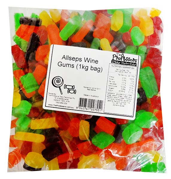 Allseps Bulk Wine Gums, by Allseps,  and more Confectionery at The Professors Online Lolly Shop. (Image Number :12147)