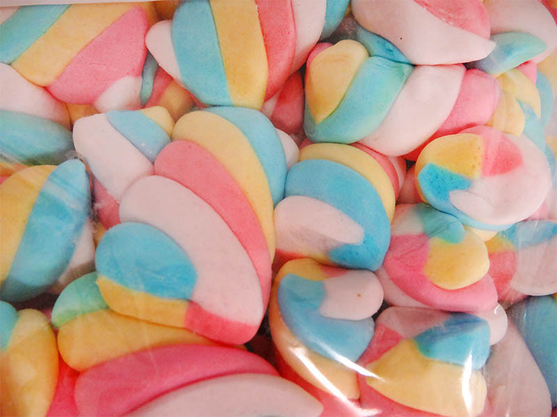 Sweet Treats Marshmallow -Rainbow Twist and more Confectionery at The Professors Online Lolly Shop. (Image Number :12997)