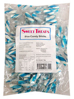 Sweet Treats Blue and White Hard Striped Candy Sticks and more Confectionery at The Professors Online Lolly Shop. (Image Number :13255)