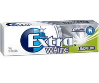 Extra Gum - White - Lemon Lime (24 x 10 pellet Display Unit)