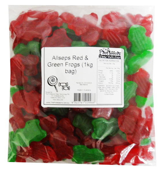 Allseps Red & Green Frogs, by Allseps,  and more Confectionery at The Professors Online Lolly Shop. (Image Number :12842)