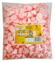 Lolliland Heart Shaped Marshmallows - Pink and White (1kg)