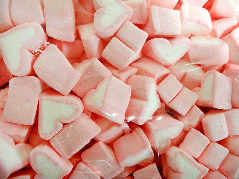 Lolliland Heart Shaped Marshmallows - Pink and White, by Lolliland,  and more Confectionery at The Professors Online Lolly Shop. (Image Number :13070)