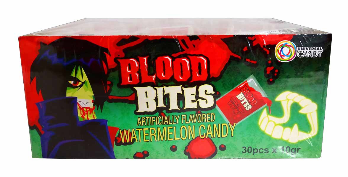Blood Bites, by Universal Candy,  and more Confectionery at The Professors Online Lolly Shop. (Image Number :11712)