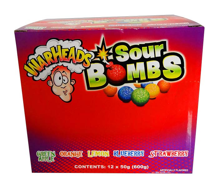 Warhead Extreme Sour Bombs, by Warheads,  and more Confectionery at The Professors Online Lolly Shop. (Image Number :11727)