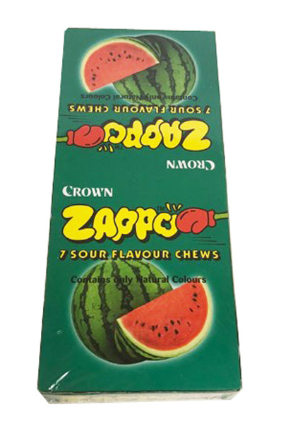 Zappo - Watermelon Chews, by Crown Confectionery,  and more Confectionery at The Professors Online Lolly Shop. (Image Number :14170)