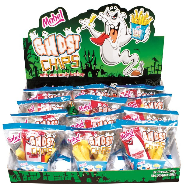 Ghost Chips With Ketchup and more Confectionery at The Professors Online Lolly Shop. (Image Number :11568)