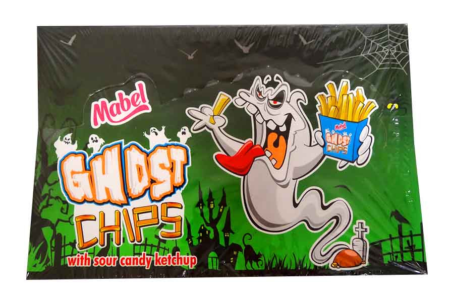 Ghost Chips With Ketchup and more Confectionery at The Professors Online Lolly Shop. (Image Number :11722)