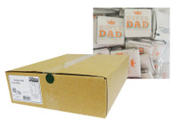 Father's Day Belgian Chocolate - Bulk - Super Dad (500pc or 2.6kg Box)