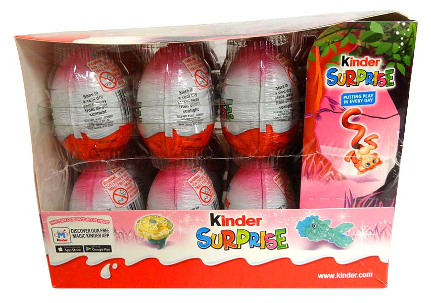 Kinder Surprise - Pink, by Kinder/Kinder Bueno,  and more Confectionery at The Professors Online Lolly Shop. (Image Number :13982)