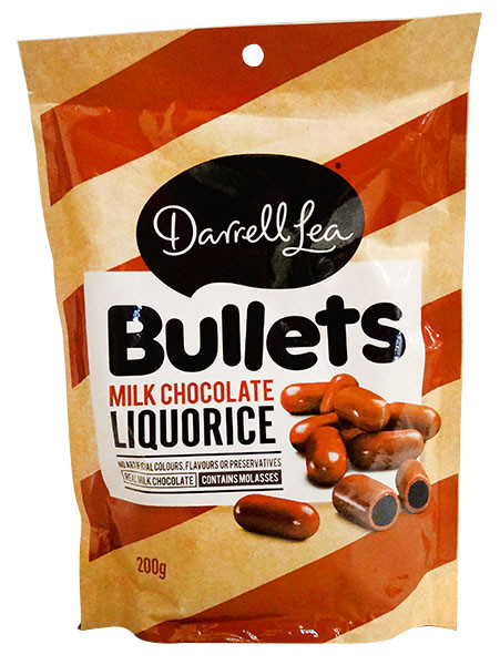Darrell Lea - Milk Choc Bullets, by Darrell Lea,  and more Confectionery at The Professors Online Lolly Shop. (Image Number :13041)