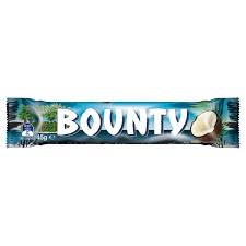 Bounty Bars Milk-Chocolate, by Cadbury,  and more Confectionery at The Professors Online Lolly Shop. (Image Number :11773)