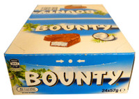 Bounty Bars Milk-Chocolate (24 x 57g in a Display)