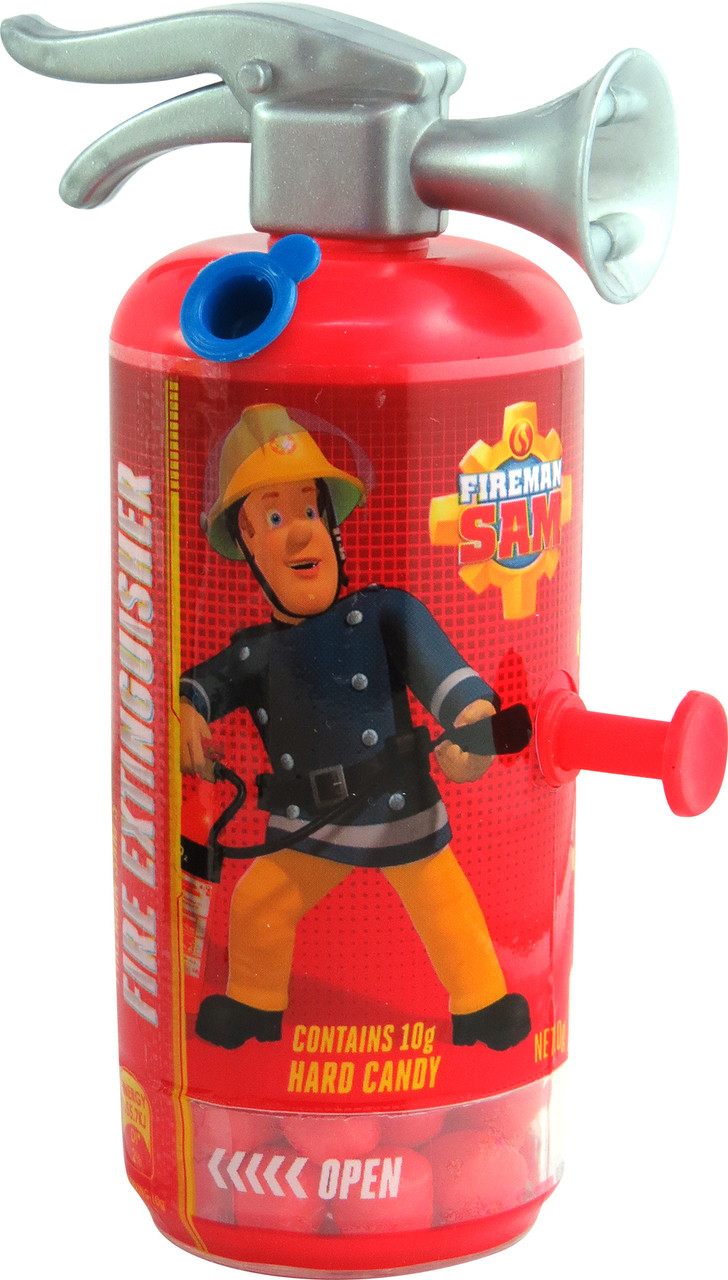 Fireman Sam Fire Extinguisher and more Confectionery at The Professors Online Lolly Shop. (Image Number :11804)
