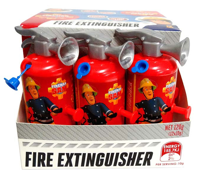 Fireman Sam Fire Extinguisher and more Confectionery at The Professors Online Lolly Shop. (Image Number :13046)