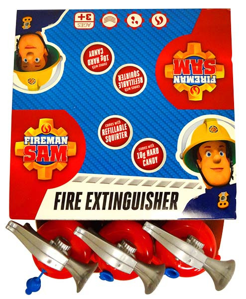 Fireman Sam Fire Extinguisher and more Confectionery at The Professors Online Lolly Shop. (Image Number :13047)