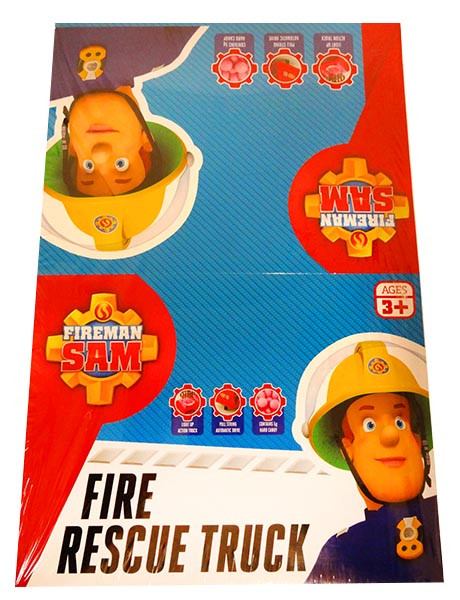 Fireman Sam Fire Truck with candy and more Confectionery at The Professors Online Lolly Shop. (Image Number :13049)