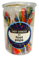 Candy showcase Foot Pops - Rainbow (24 x  12g pops in a tub)