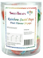 Sweet Treats swirl pop - Rainbow (12g x 24pops)
