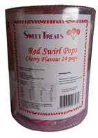 Sweet Treats swirl pop - Red (12g x 24pops)