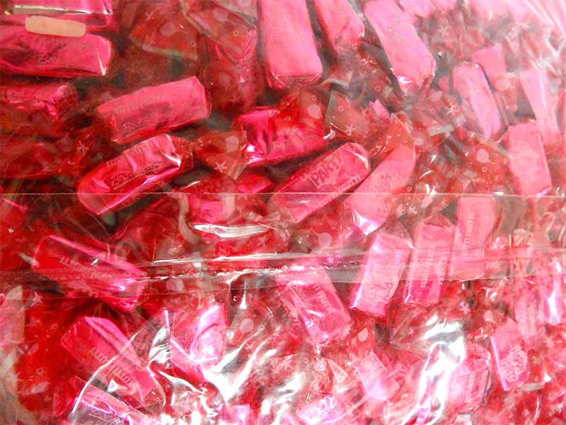Sweet Treats Happy Party  Chews - Pink, by Brisbane Bulk Supplies,  and more Confectionery at The Professors Online Lolly Shop. (Image Number :14266)