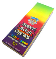 TNT Giant Sour Chew Bars - Multi-Colour Strawberry (24 x 40g)