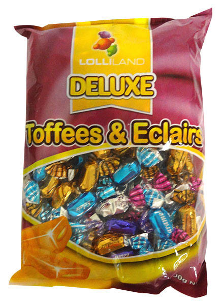 Deluxe Toffees & Eclairs and more Confectionery at The Professors Online Lolly Shop. (Image Number :14108)