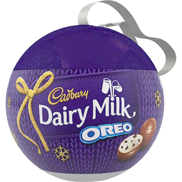 Cadbury Oreo Bauble, by Cadbury,  and more Confectionery at The Professors Online Lolly Shop. (Image Number :11868)