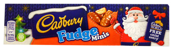 Cadbury Fudge Minis, by Cadbury,  and more Confectionery at The Professors Online Lolly Shop. (Image Number :12759)