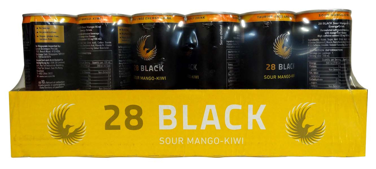28 Black Energy Drink - Sour Mango Kiwi, by 28 Black,  and more Beverages at The Professors Online Lolly Shop. (Image Number :12732)