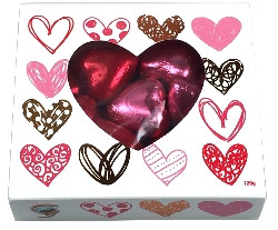 Chocolate Gems - KC Hearts Treats Box - Pink & Red, by Chocolate Gems,  and more Confectionery at The Professors Online Lolly Shop. (Image Number :12014)