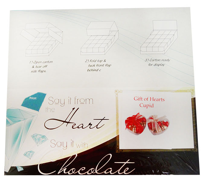 Chocolate Gems - Gift of Hearts - Cupid, by Chocolate Gems,  and more Confectionery at The Professors Online Lolly Shop. (Image Number :12190)