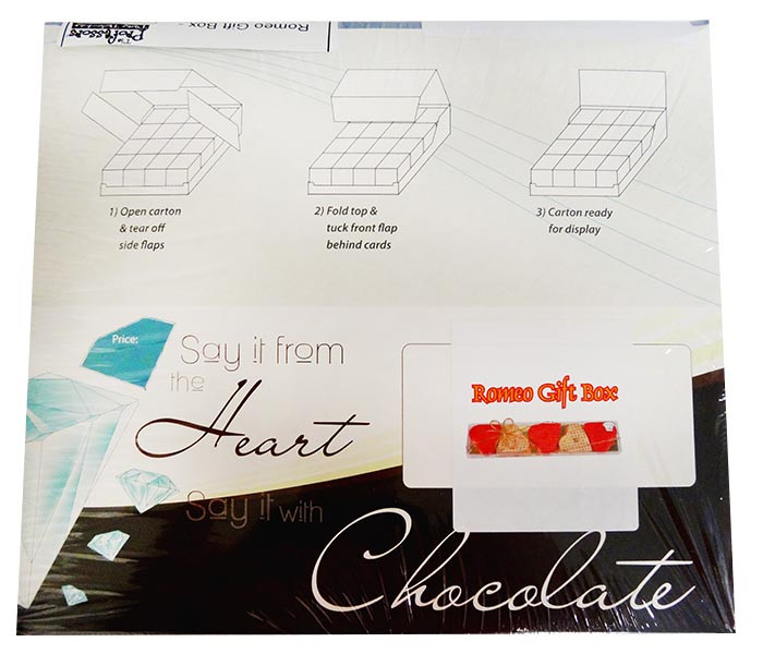 Chocolate Gems - Romeo Hearts Gift Box - Cupid, by Chocolate Gems,  and more Confectionery at The Professors Online Lolly Shop. (Image Number :12194)