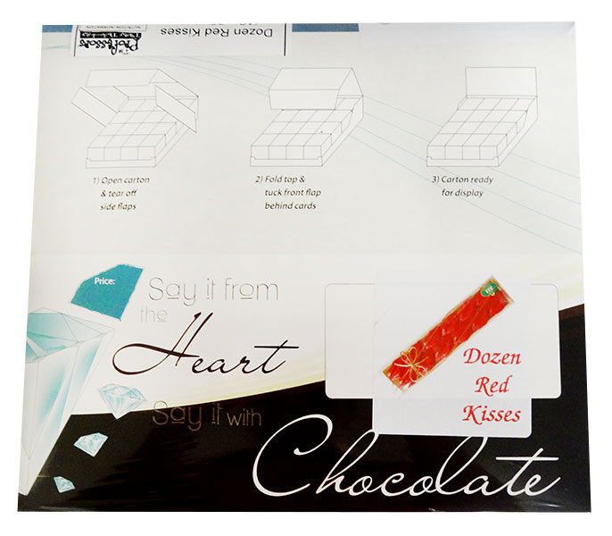 Chocolate Gems - Dozen Red Kisses, by Chocolate Gems,  and more Confectionery at The Professors Online Lolly Shop. (Image Number :12188)