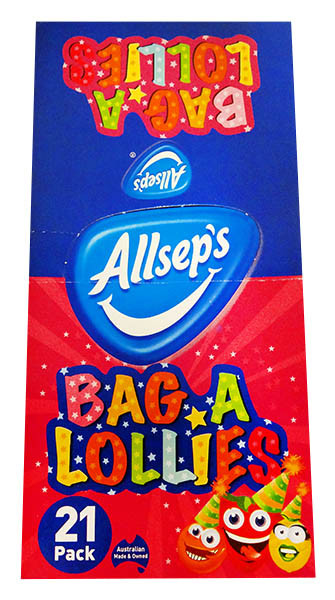 Allseps Bag of Lollies, by Allseps,  and more Confectionery at The Professors Online Lolly Shop. (Image Number :12211)