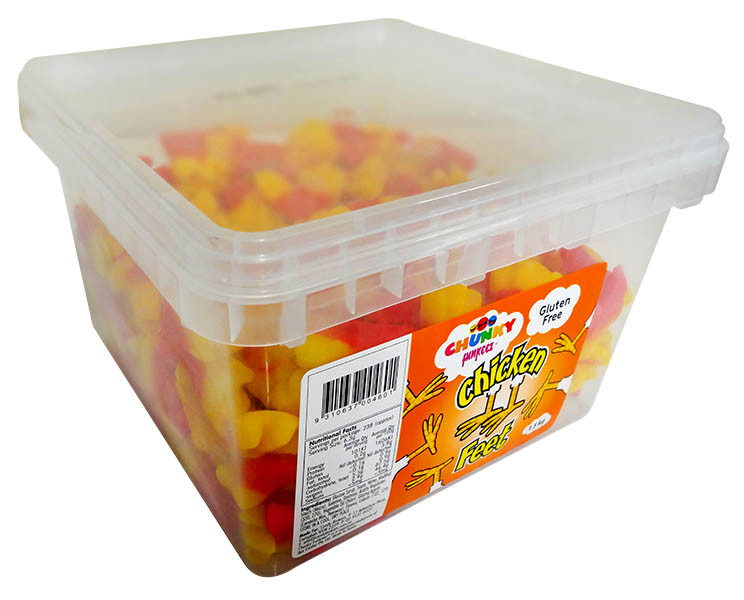 Chunky Funkeez Chicken Feet, by Candy Brokers,  and more Confectionery at The Professors Online Lolly Shop. (Image Number :12216)