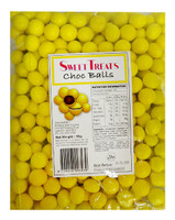 Sweet Treats Choc Balls - Yellow, by Brisbane Bulk Supplies,  and more Confectionery at The Professors Online Lolly Shop. (Image Number :12105)