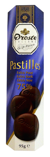 Droste Rolls Extra Dark Chocolate and more Confectionery at The Professors Online Lolly Shop. (Image Number :13955)