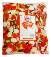 Kingsway Gummy Strawberries & Cream, by Kingsway,  and more Confectionery at The Professors Online Lolly Shop. (Image Number :12196)