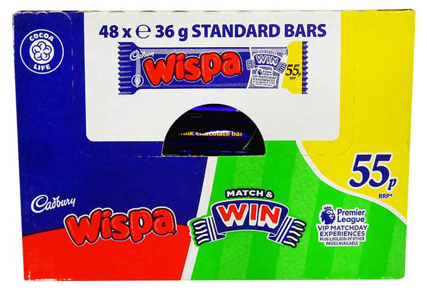 Cadbury Wispa, by Cadbury,  and more Confectionery at The Professors Online Lolly Shop. (Image Number :12206)