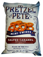 Pretzel Pete - Mini Twists - Salted Caramel and more Snack Foods at The Professors Online Lolly Shop. (Image Number :12784)