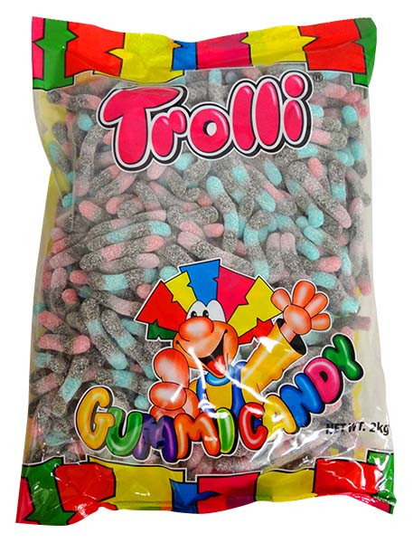 Trolli Berry Brite Crawlers, by Trolli,  and more Confectionery at The Professors Online Lolly Shop. (Image Number :13029)