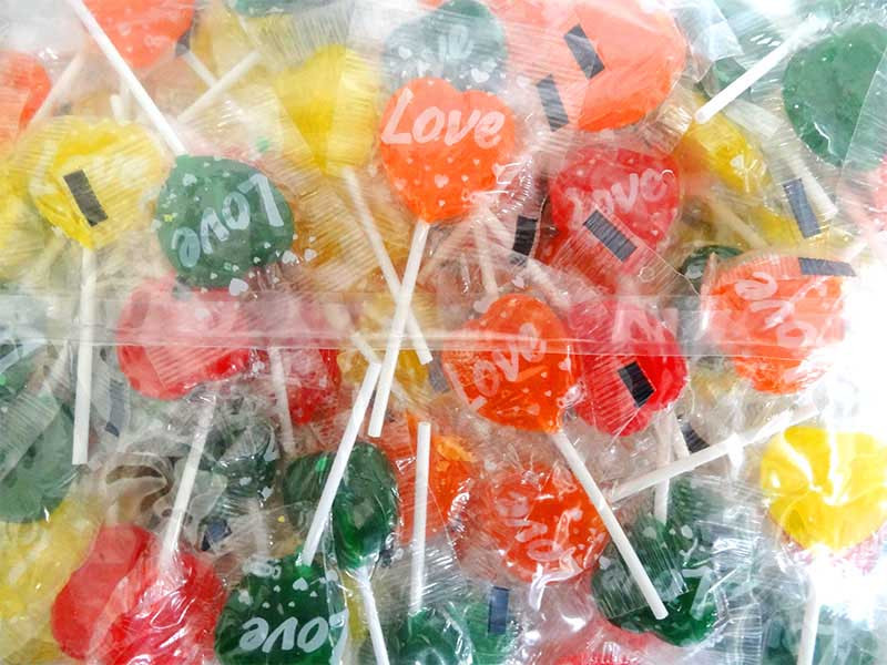 Love Heart Pops - Multicolour and more Confectionery at The Professors Online Lolly Shop. (Image Number :13164)