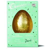 Chocolatier - Chunky Mint Chip Dark Chocolate Egg and more Confectionery at The Professors Online Lolly Shop. (Image Number :12363)