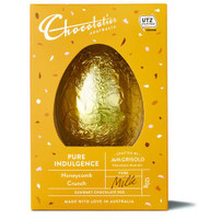 Chocolatier -  Honeycomb Milk chocolate Egg and more Confectionery at The Professors Online Lolly Shop. (Image Number :12373)
